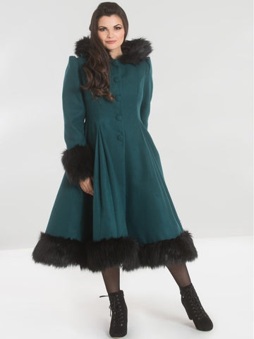 Elvira Coat - Deep Green