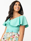 Frenchie Ruffle Top - Mint