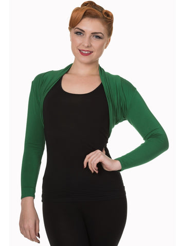 Folded Bolero - Forest Green