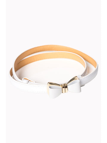 Ocean Avenue Belt - White
