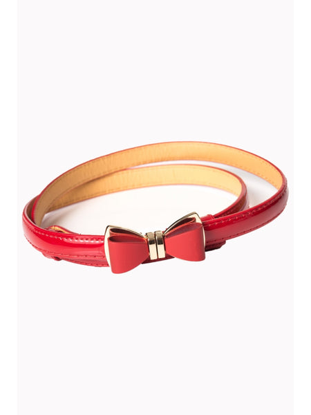 Ocean Avenue Belt - Red