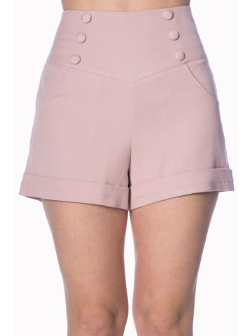 Cute As A Button Shorts - Pink