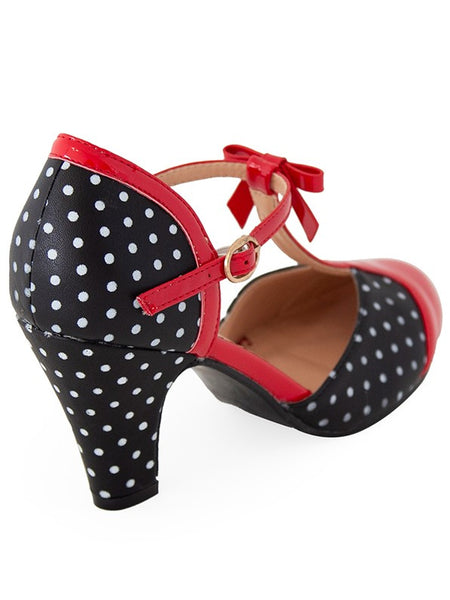 Kelly Lee Heels - Blk/Red
