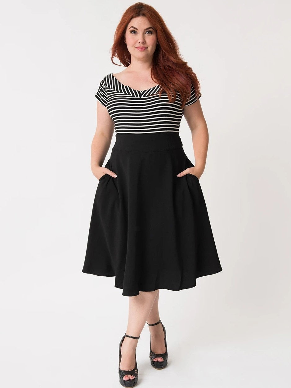 Vivien Swing Skirt - Black