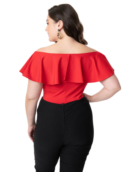 Frenchie Ruffle Top - Red