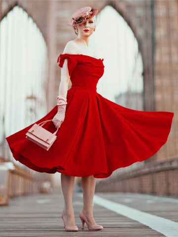 Tilly Prom Swing - Red