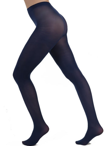 Midnight Blue Opaque Tights