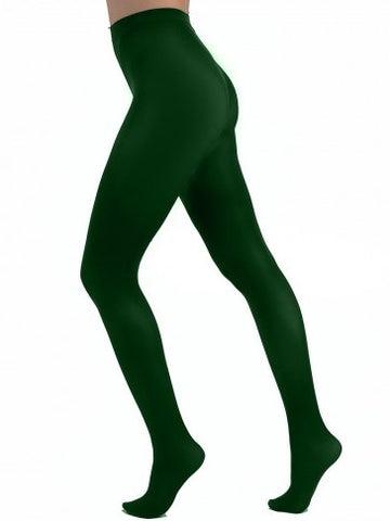 Forest Green Opaque Tights