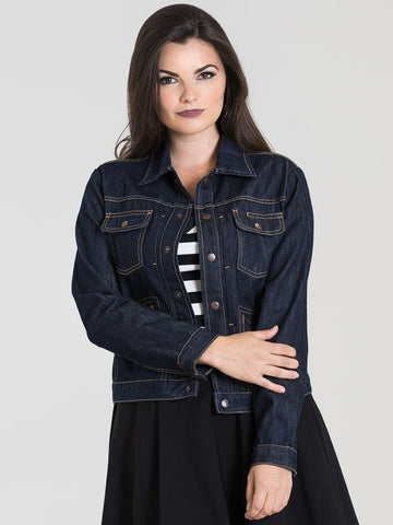 Indiana Denim Jacket - Navy