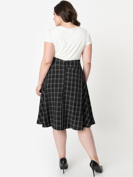 Vivien Swing Skirt - Windowpane