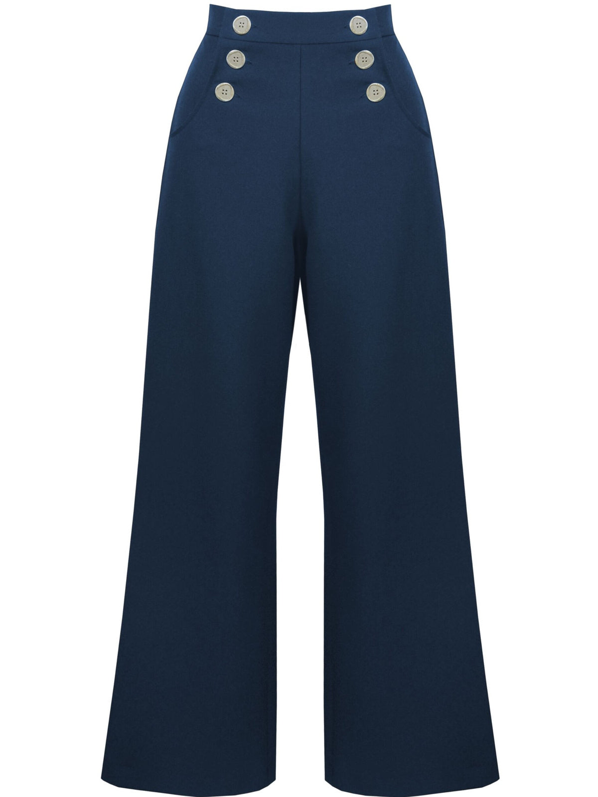 Retro Sailor Slacks - Navy