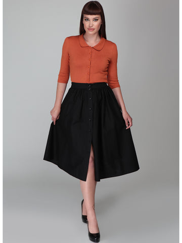 Mariana Swing Skirt - Black