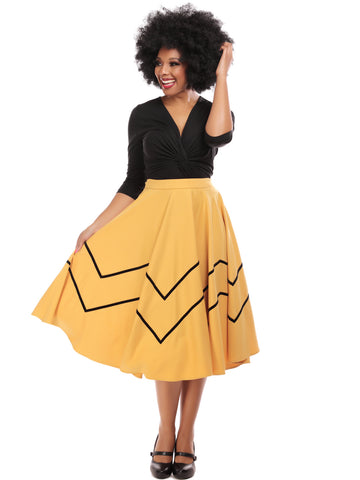 Milla Swing Skirt - Mustard