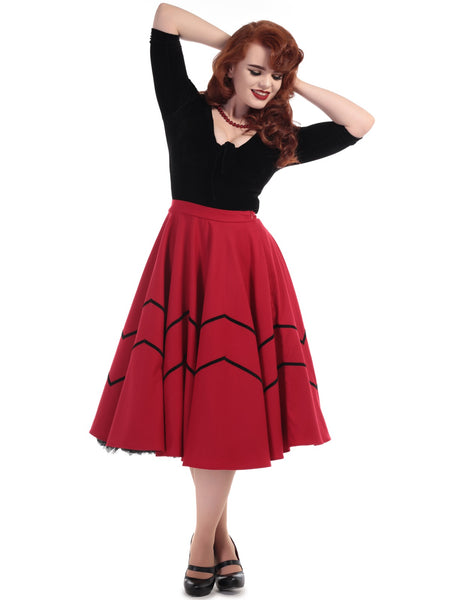 Milla Swing Skirt - Red