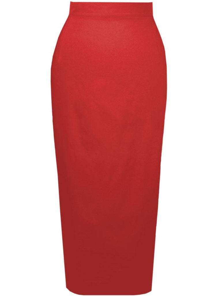 Retro Pencil Skirt - Red