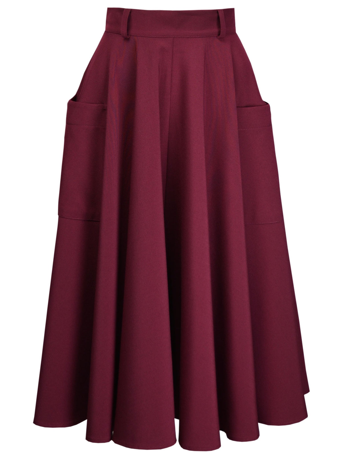 Retro Circle Skirt - Wine