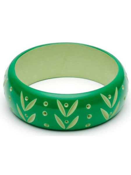 Wide Summer Carved Duchess Bangle