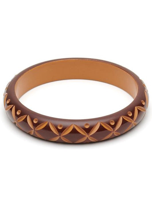 Midi Walnut Carved Duchess Bangle