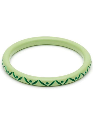 Narrow Spring Carved Duchess Bangle