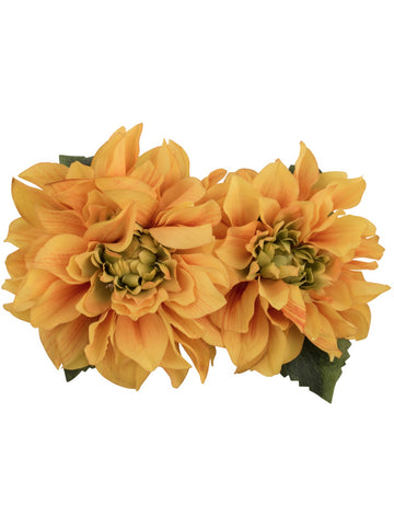 Samantha Hair Flower - Yellow