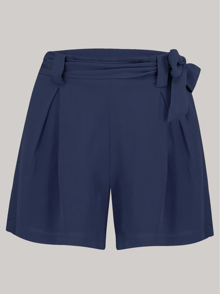 Emma Tap Shorts - Solid Navy
