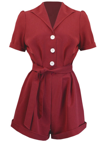 Pretty Playsuit - Red