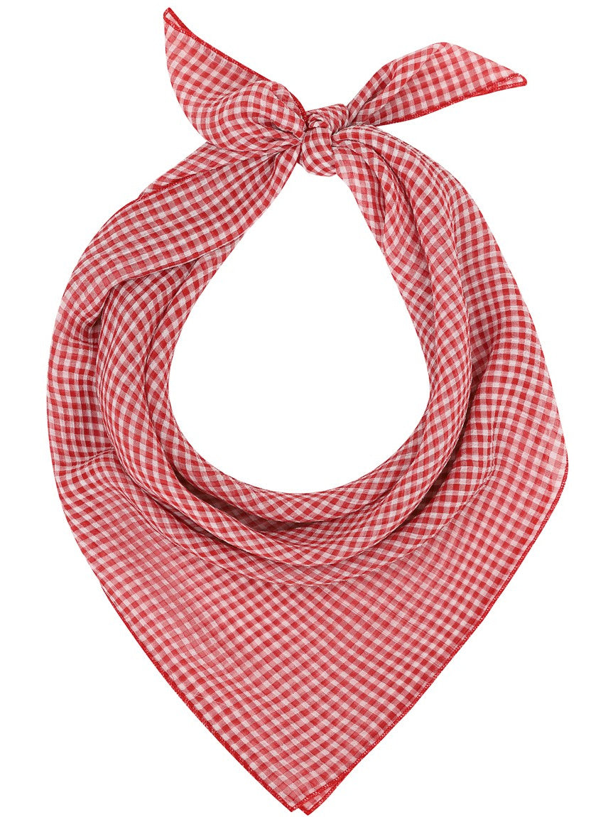 Zoe Scarf - Red Gingham