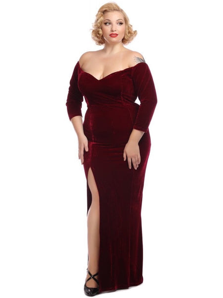 Anjelica Gown - Wine