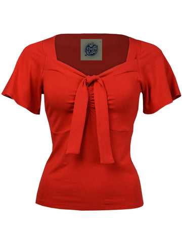 Pretty Tie Top - Scarlet