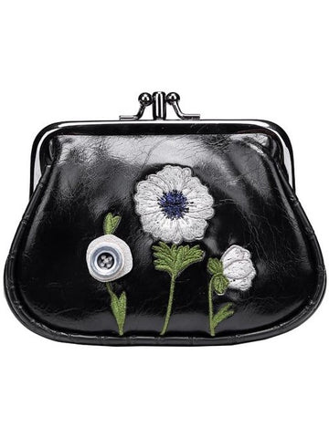 White Poppy Clipper Coin Purse