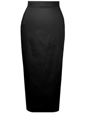 Retro Pencil Skirt - Black