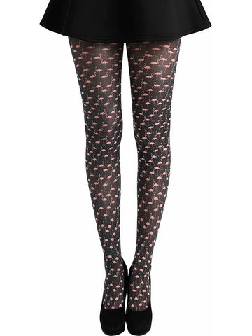 Flamingo Printed Tights