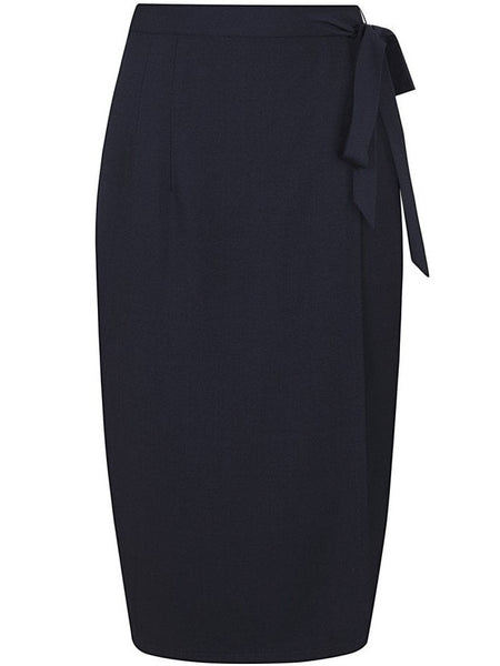 Helenor Wrap Pencil Skirt - Navy