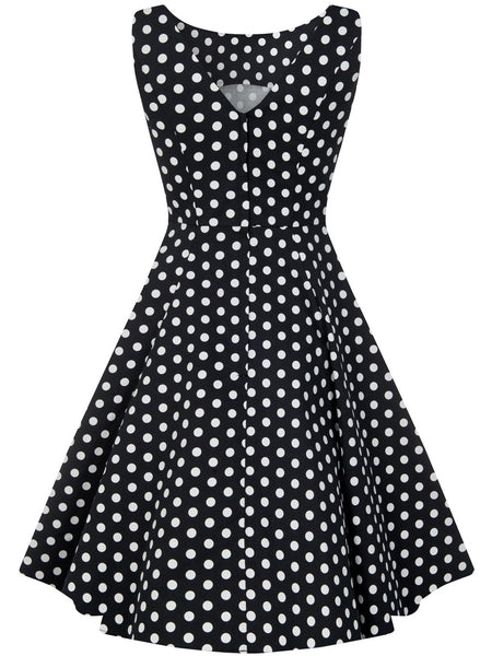 Hepburn Doll - Black Polka