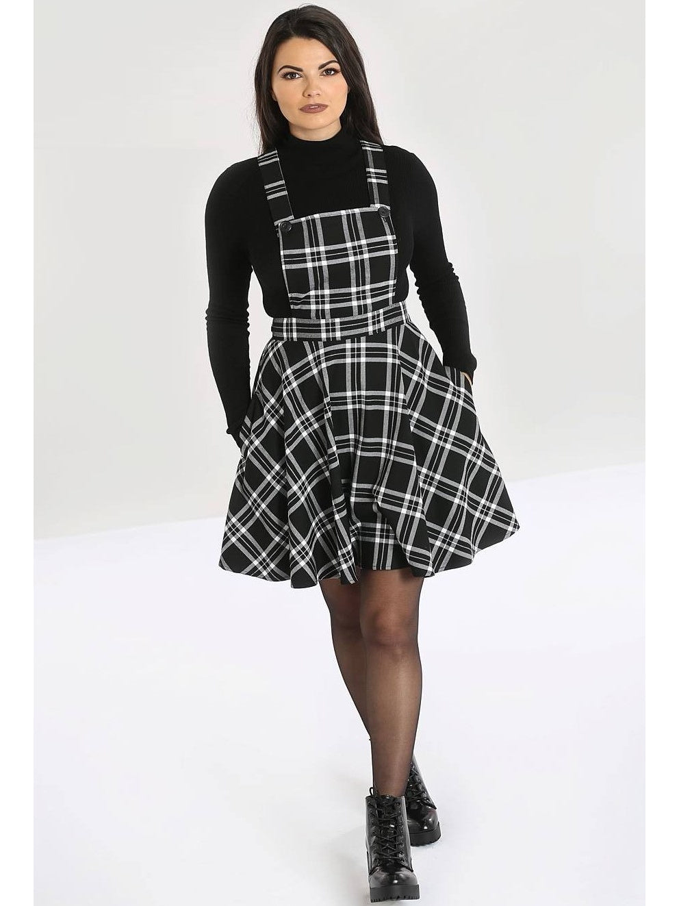 Islay Pinafore - Black