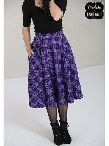 Karine 50's Skirt - Purple