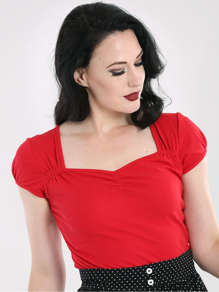 Mia Top - Red