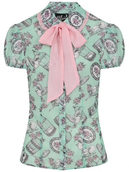 Willow Sparrow Blouse - Mint