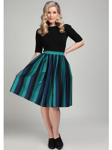 Jasmine Swing Skirt - Twilight Stripe
