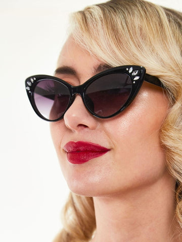 Kelly Gem Sunglasses - Black