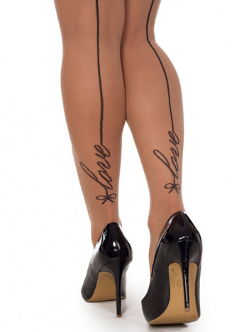 Signature Love Seamed Tights