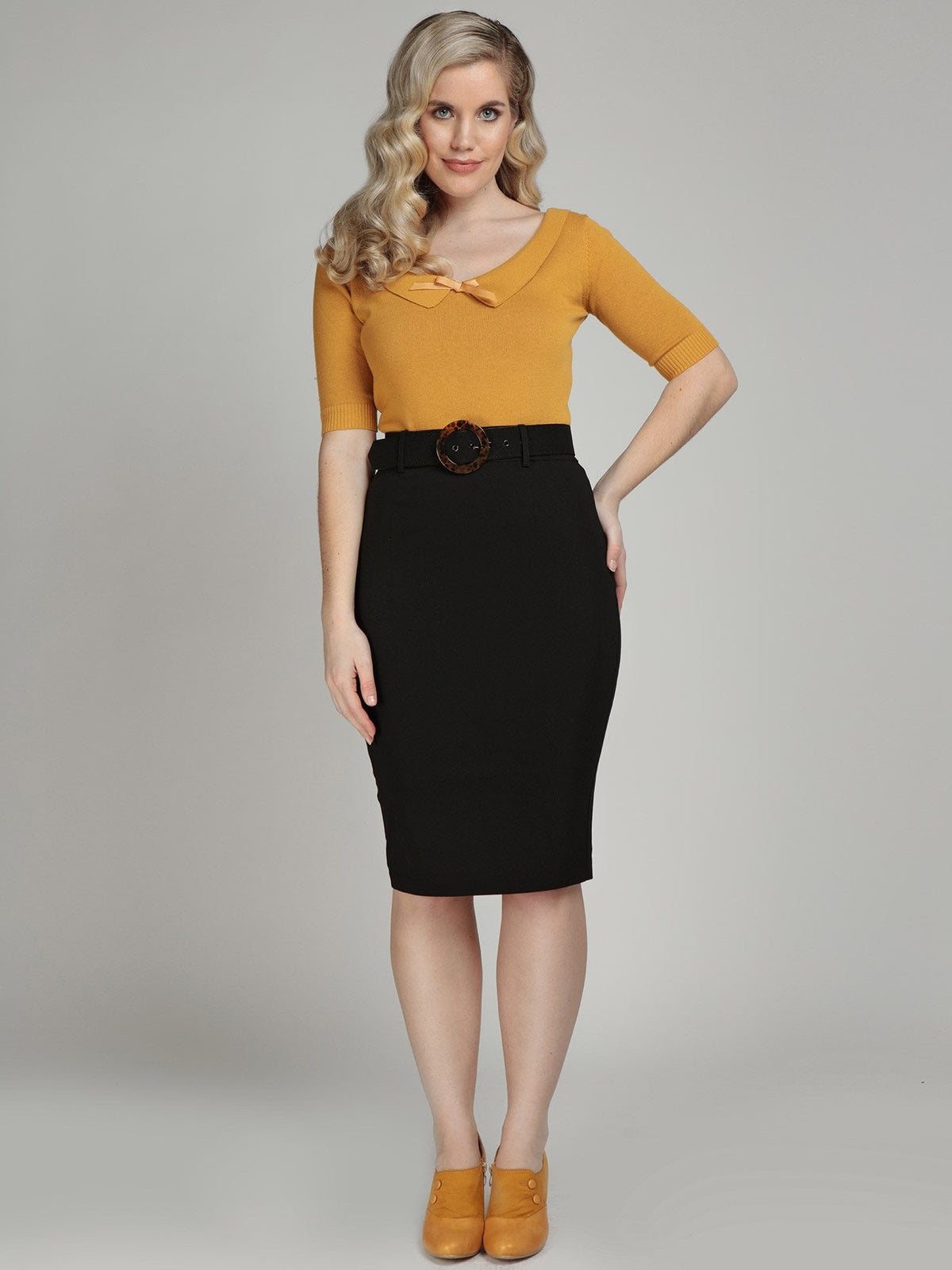 Madelyn Pencil Skirt - Black