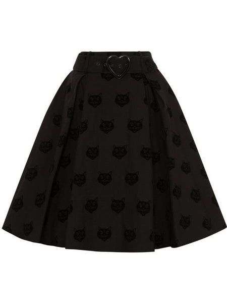 Naomi Skater Skirt - Black Cat