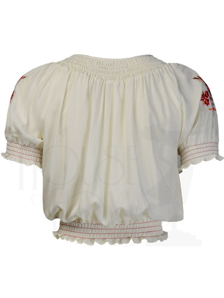 Peasant Blouse - Red