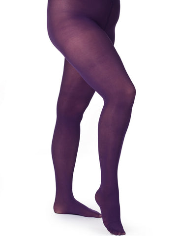 Purple Curvy Figure Tights