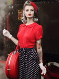 Jive Blouse - 40's Red