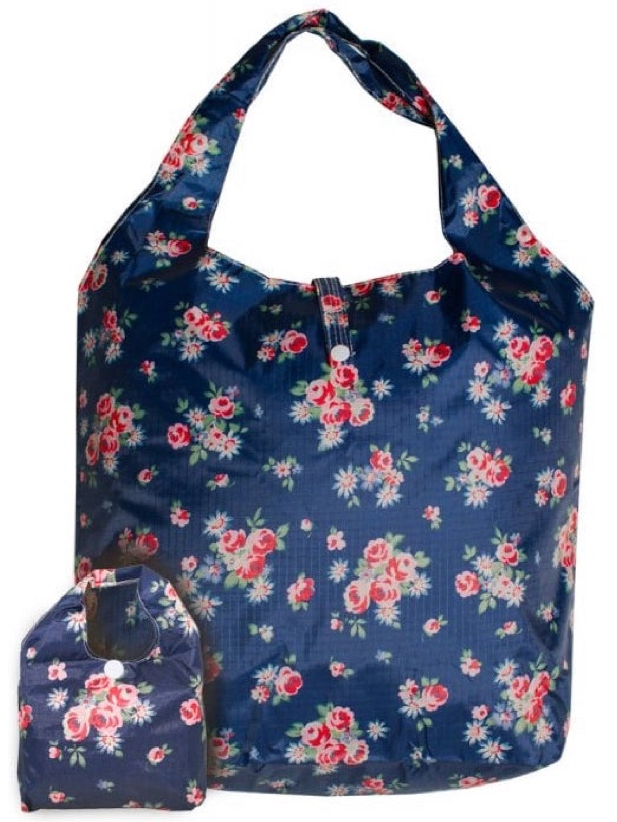 Shopping Bag - Navy Floral