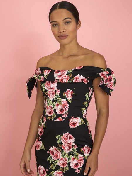 Tilly Pencil - Black Vintage Rose