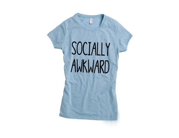 Baby Blue Socially Awkward Fitted Top