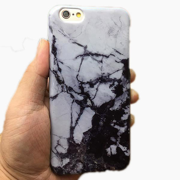 White and Black Marble iPhone Case Brand Awareness